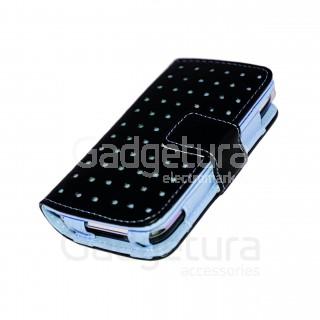 Чехол-книжка для iPhone 3G/3Gs - черный/голубой