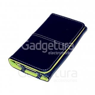Чехол-книжка для iPhone 4 - черный/зеленый