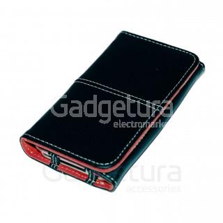 Чехол-книжка для iPhone 4 - черный/красный