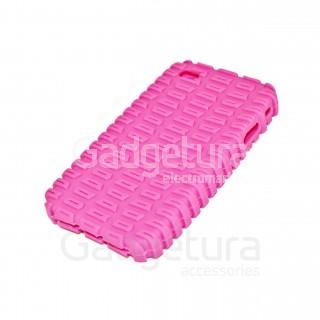Cиликоновый чехол для iPhone 4 - розовый