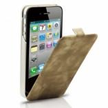 S - Case Luxe кожаный раскладной чехол зарядка для Iphone 4/4S Western Brown