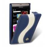 Чехол Melkco Leather Case Jacka Type Special Edition Blue/White LC