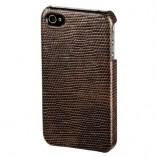 Футляр-книга  Apple iPhone 4\4S коричнево-темный