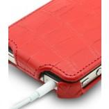 Футляр-книга  Apple iPhone 4\4S розовый крокодил