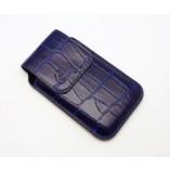 Футляр-книга  Apple iPhone 4\4S фиолетовый крокодил