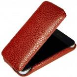 Футляр-книга  Apple iPhone 4\4S красный флотер
