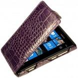 Футляр-книга  Nokia Lumia 800 фиолетовый крокодил