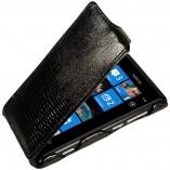Футляр-книга  Nokia Lumia 800 черный варан