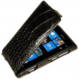 Футляр-книга  Nokia Lumia 800 черный крокодил