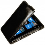 Футляр-книга  Nokia Lumia 800 черный лак