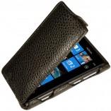 Футляр-книга  Nokia Lumia 800 черный флотер