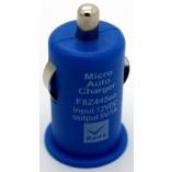 автомобильное зарядное устройство для iрhone 4 5 синий