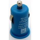 автомобильное зарядное устройство для iрhone 4 5 голубой
