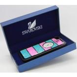 накладка swarovski для iphone 5 розово синие