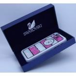 накладка swarovski для iphone 5 белый с розово белыми стразами