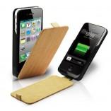 S - Case Luxe кожаный раскладной чехол зарядка для Iphone 4/4S Wood Stripe