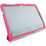 Чехол полиуретановый для Samsung Galaxy Tab 10.1 розовый